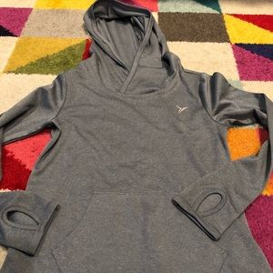 NWOT Hooded sport top with thumb holes